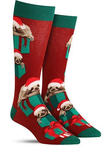 Men's Santa Sloth Socks