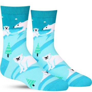 Kids' Polar Bear Stare Socks
