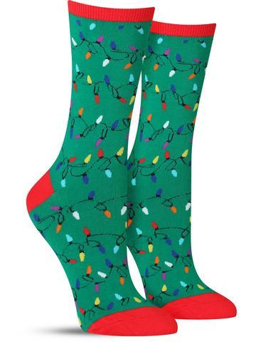 Women's Christmas Lights Socks