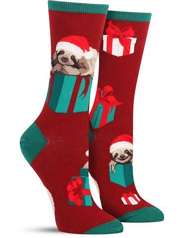 Women's Christmas Sloth Socks