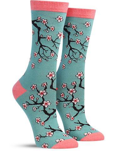 Women's Cherry Blossoms Bamboo Socks