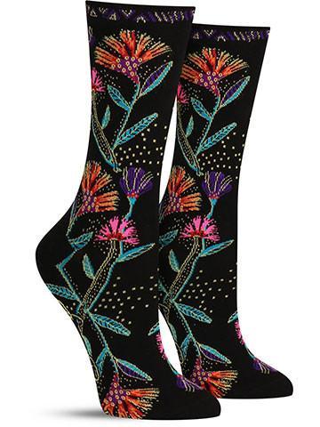 Women's Laurel Burch Wildflowers Socks