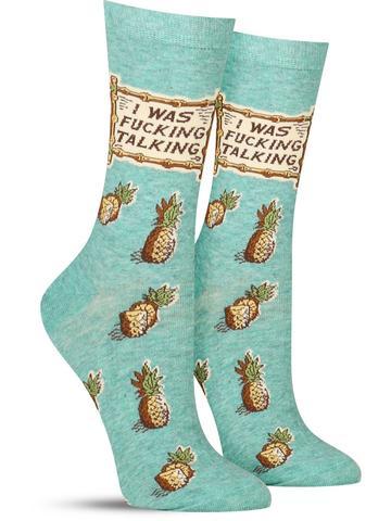 Women's I Was F*cking Talking Socks