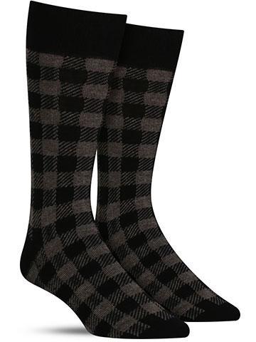 Men's Buffalo Check Socks