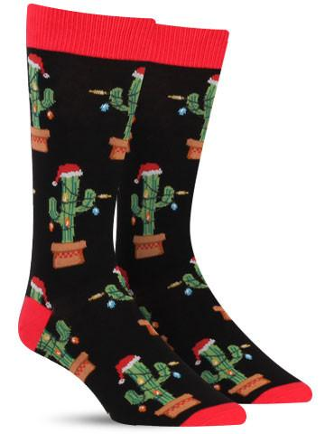 Men's Christmas Cactus Socks