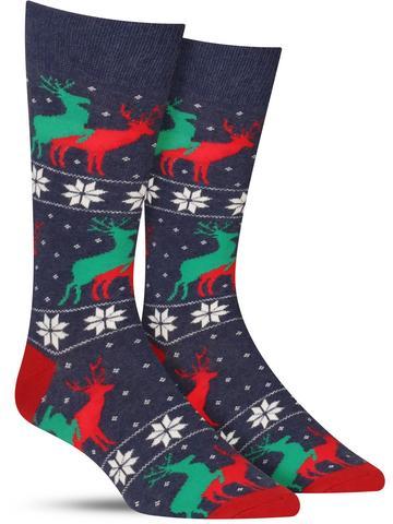Men's Naughty Reindeer Games Christmas Socks