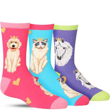 Reigning Cats & Dogs Socks (3-Pack)