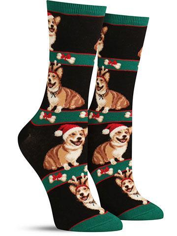 Women's Corgi Christmas Socks
