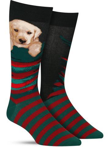 Men's Stocking Pupper Christmas Socks