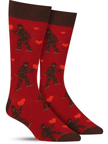 e12282ec06a Awesome Sasquatch Valentine holiday socks for men