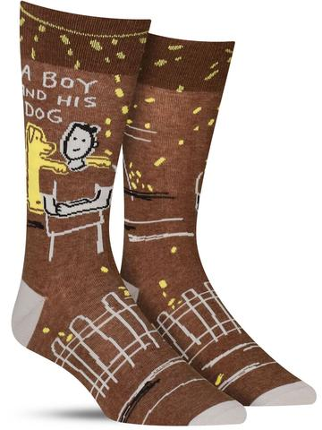A Boy and His Dog Socks