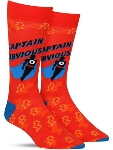 Captain Obvious Socks