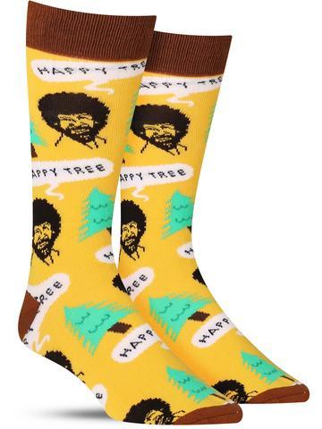 Men's Bob Ross Happy Tree Socks
