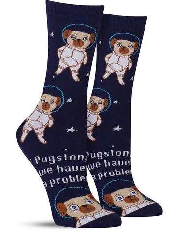 Pugston, We Have a Problem Socks