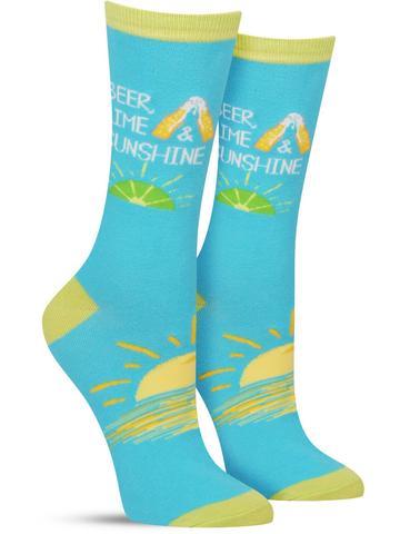 Women's Beer Lime Sunshine Socks