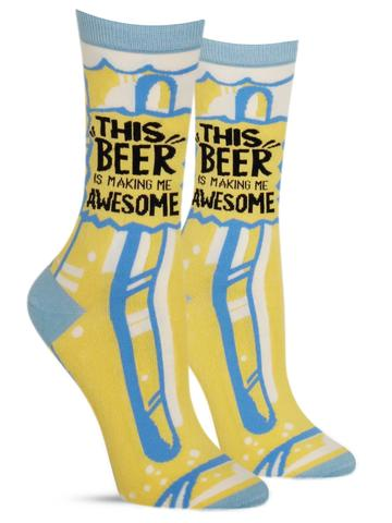 Women's This Beer Is Making Me Awesome Socks