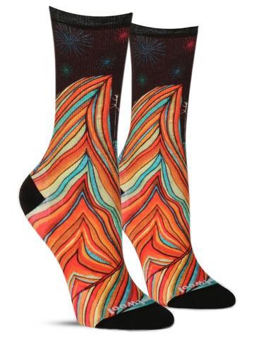 Women's Rainbow Mountain Climb Wool Socks